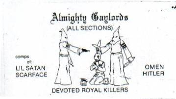 Chicago gangs sleepnevercom for Chicago gang cards